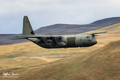 RAF Hercules ZH877 low level in Northern England (NDSD) Tags: yorkshire dales north northern low level c130 hercules lockheed boeing cumbria flying jet raf lake district transport plane aircraft aviation