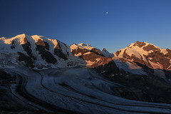 Sunrise (Stefsan (on and off)) Tags: pizpalü bellavista pizspinas pizargient crastagüzza pizbernina vadretpers persgletscher persglacier mountains glaciers alps diavolezza pontresina oberengadin engiadinota graubünden grisons grigioni schweiz suisse svizzera switzerland sunrise moon morning light nature canon eos 7d stefsan ©stefansandmeier visipix visipixcollections