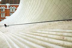 """ One & One = ❤  "" (Petra U.) Tags: lisbon lisboa lissabon maat museumofartarchitectureandtechnology love happiness lines paarweise"