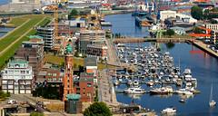 Bremerhaven Neuer Hafen und Kaiserhafen1 (Wolfgang.W. ) Tags: bremerhaven bremerhafen kauserhafen neuerhafen stadt schiffe boote ships boats