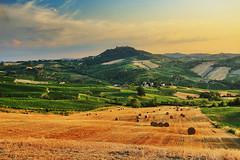 Estate (F@bio F.) Tags: italia oltrepo estate campagna panorama paesaggio tramonto giallo colline colori cielo nuvole landscape summer hills field colors sunset sky clouds
