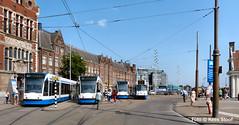 Tram 26, 4, 9 en 24 (kees.stoof) Tags: amsterdam centraal station cs tram 26 4 9 24