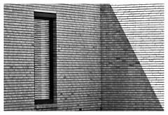 Looking at bricks (leo.roos) Tags: reflection weerspiegeling architecture architectuur window raam wall muur brick shadow schaduw noiretblanc westland westerhonk monster a7rii meyerorestegor20040 m42 zebra 1966 day200 dayprime2018 dayprime dyxum challenge prime primes lens lenzen brandpuntsafstand focallength fl darosa leoroos