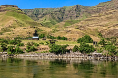 Campground In Hells Canyon (http://fineartamerica.com/profiles/robert-bales.ht) Tags: aupload fahellscanyon facebook forupload haybales hellscanyontrip idaho people photo photouploads places projects states nature canyon landscape recreation river wilderness area remote mountain america usa wild white hell oregon green range vacation scene outdoors scenic hells hiking tourism water salmon blue snake desert eastern fishing fly outdoor riggins rock rugged nez trout beauty steelhead conservation clouds devils tourist gorge mountains washington snakeriver hellscanyon robertbales boat jetboat rapids mixedmedia campground