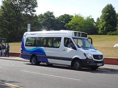 Arriva Derby 1001 Nottingham University (Guy Arab UF) Tags: arriva derby 1001 bf67wfx mercedes benz sprinter city 45 minibus bus east drive nottingham university park hopperbus buses