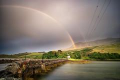 Rainbow Bridge (mickreynolds) Tags: croaghpatrick murrisk nx500 samyang12mm rainbow sea aatlantic wildatlanticway bridge sky mountain westport co mayo