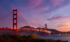 Golden Gate @ sunset (RigieNL) Tags: goldengate goldengatebridge purple pink instagram insta californie california clouds sun sundown sunset sunrise landscape landschap amerika america usa unitedstates bridge red le longexposure sony sonya6000 zonsondergang roadtrip holiday