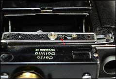 Certo Dollina II Repair Notes (14) (Hans Kerensky) Tags: certo dollina ii rangefinder folder repair remove screw double exposure prevention release buttonfront door lock panel