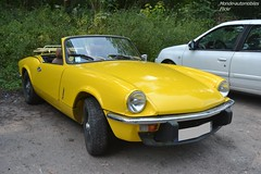 Triumph Spitfire 1500 (Monde-Auto Passion Photos) Tags: voiture vehicule auto automobile triumph spitfire 1500 cabriolet convertible roadster spider sportive jaune yellow ancienne classique france fontainebleau
