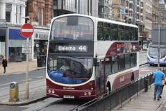 LB 738 @ Princes Street, Edinburgh (ianjpoole) Tags: lothian buses volvo b7tl wright eclipse gemini sn55bnv 738 passing the royal scottish academy edinburgh