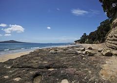 Takapuna Beach Ridge (fantommst) Tags: lisaridings fantommst takapuna northshore nz newzealand auckland beach rock shelf low tide gulf waitematā harbour
