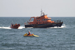Lifeboats big and small (ExeDave) Tags: p8053995 teignmouth torbay brixham lifeboats jetski rnli seafront teignbridge devon sw england gb uk boats sea seascape lyme bay searchandrescue sar demo demonstration august 2018