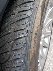 Tires after Autobahn. I'd say they are in good shape! (NFBPhotography.com) Tags: autobahn bmw 750i race track roadcourse fast tire eaten sidewall