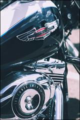 103 cubic inches (G. Postlethwaite esq.) Tags: bakewell dof derbyshire harleydavidson vtwin airfilter badge bokeh chrome depthoffield fullframe motorbike motorcycle petroltank photoborder photowalk selectivefocus
