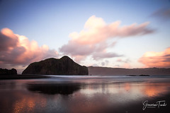 WHATIPU (Cor Lems) Tags: whatipu landscape sunset nature reflection landscapes auckland sea longexposure beach newzealand pink naturallight seascape park national ocean reserve