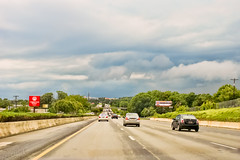 Coming back... (agasfer) Tags: 2018 southcarolina greenville clouds cloudsstormssunsetssunrising driving pentax k3 topaz adjust5 cars highways smcpentaxda12435mmal