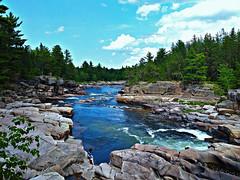 Cascades Pabineau (1-4) (deplour) Tags: chutes cascades pabineau falls rivière nepisiguit river rochers rocks arbres trees
