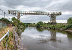 Warrington transporter bridge 02 jul 18 (Shaun the grime lover) Tags: hdr mersey warrington bridge river summer transporter disused derelict rusty girder cheshire arpley bankquay path