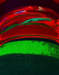 A Band Aid (Steve Taylor (Photography)) Tags: gauze digitalart black green red cloth glass curve texture lines
