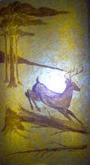 Deer (Adventurer Dustin Holmes) Tags: 2005 springfield missouri ozarks springfieldmo greenecounty indoor basspro outdoorworld art animal artwork deer painting bassproshops