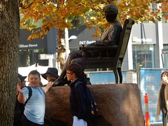 Boys Making History (mikecogh) Tags: adelaide cbd statue schoolboys excursion autumn leaves