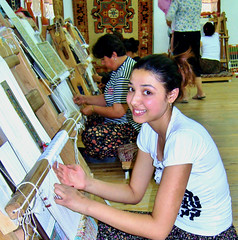 Carpet Weaving in Turkey (Still catching up) Tags: weaver