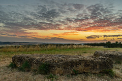 Rollright Stones (Adam Spink) Tags: stones landscape nikon sunrise country outdoors clouds uk cotswold district sun red