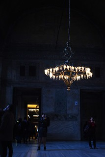 Images of Hagia Sophia, Istanbul: halls and chandeliers