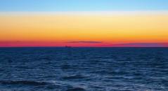 When your Ship Comes in (Vanessa wuz Here) Tags: 7dwf landscape sunset horizon waves lakeontario stcatherines ontario everyimagetellsastory goldenhour copyrightvanessabartosek skyline water sky