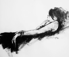 P1018435 (Gasheh) Tags: art painting drawing sketch figure portrait girl line pen charcoal gasheh 2018
