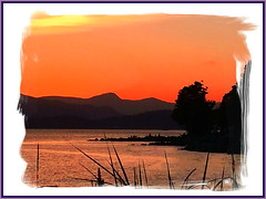 Quiet Waters (FernShade) Tags: vancouverbc englishbay summersunset oceansunset scenery scenic mountains ocean sea seascape
