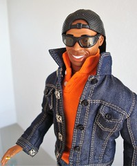 Thierry wearing sunglasses and cap (Deejay Bafaroy) Tags: thierryhenry kickomania actionfigure doll puppe 16 scale ken homme male cap kappe portrait porträt black schwarz orange blue blau mütze cigarette zigarette denim jacket jacke