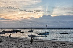 Sunset on Mozambique Island.