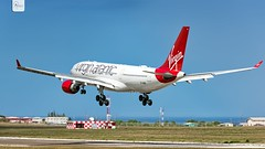 Virgin Atlantic | G-VMIK | Airbus A330-223 | BGI (Terris Scott Photography) Tags: pw4168 aircraft airplane aviation plane spotting nikon d750 tamron 70200mm f28 travel barbados jet jetliner virgin atlantic airbus a330 200 gatwick grass sky