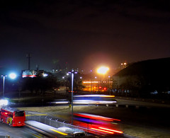 Night of hunting lights (Neo-noir) Tags: night neon light cielo paranormal dark panamá albrook centralamerica architecture city arquitectura ciudad