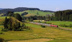 Urlaub im Allgäu Teil 6 (Klaus Z.) Tags: eisenbahn kbs 970 allgäu allgäubahn br 218 eurocity ec 196 zell db fernverkehr personenzug