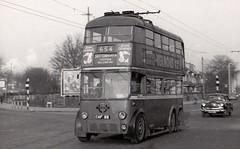 London transport B1 trolleybus 85 on route 654 Waddon  1959. (Ledlon89) Tags: bus buses london transport lt lte londonbus trolleybus electricbus electrictransport londonbuses londontransport vintagebuses cgf85 londontrolleybus