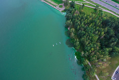 Drozdy Reservoir (free3yourmind) Tags: drozdy reservoir minsk belarus forest trees water surface aerial view above quadcopter xiaomi mi drone