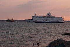 Departing Ferry-E7250220 (tony.rummery) Tags: em10 evening ferry fort mft microfourthirds omd olympus portsmouth seascape seaside solent southcoast southsea sunset swimmers england unitedkingdom gb