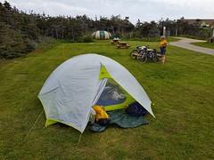 Day 4 - Camping at La Salicorne on Grande Entree Island (Bobcatnorth) Tags: lesilesdelamadeleine magdalenislands quebec canada summer 2018 cycling velo bicycle bicycling cycletouring bicycletouring touring tourdevelo gulfofstlawrence