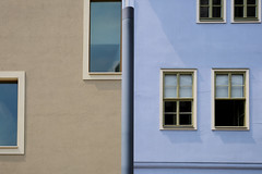 18075160 (felipe bosolito) Tags: building facade geometry minimalism symmetry simple contrast color window oldnew old new blue grey weimar germany fuji xpro2 xf1655 velvia