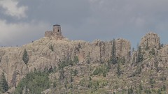 Black Elk Peak Watchtower 4K Timelapse (Sam Wagner Photography) Tags: black elk peak stone fire watch tower harney hills south dakota telephoto summer cloudy hikers hiking travel tourism vacation nature landscape 4k uhd time lapse timelapse motion architecture building old midwest