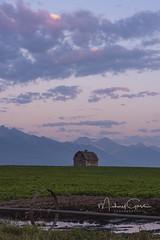 Dupuis Barn Twilight (NikonDigifan) Tags: sunset twilight montana dupuisbarn barn rural farming rockies agriculture clouds mountains nikond750 nikon nikon28300 mikegassphotography