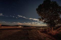 Move Forward (M-Z-Photo) Tags: colmberg bayern deutschland de langzeitbelichtung nachtaufnahme natur landschaft wolken himmel felder strase baum lichtspuren autos