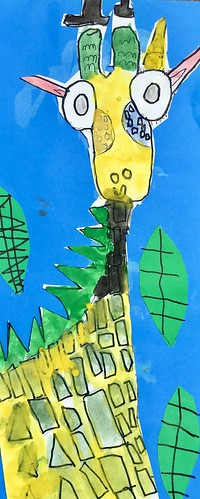 """1st grade African Giraffe Paintings #giraffe #drawing #painting #art #collage #1st #1stgrade #arteducation • <a style=""""font-size:0.8em;"""" href=""""http://www.flickr.com/photos/57802765@N07/43894786171/"""" target=""""_blank"""">View on Flickr</a>"""