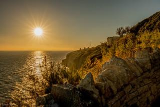 Sunset at Anvil Point, Dorset