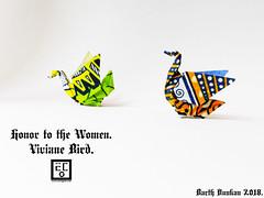 Honor to the Women Viviane Bird - Barth Dunkan. (Magic Fingaz) Tags: barthdunkan bird burung chim oiseau origami origamibird pájaro pássaro ptak uccello vogel птица นก 鳥 鸟