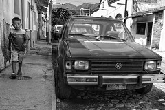 Walking with purpose (posterboy2007) Tags: ajijic mexico vw boy street monochrome volkswagen