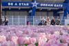 Be A Star, Dream Gate (703) Tags: japan kanagawa pentaxk3ii spring yokohama yokohamapark yokohamastadium cityscape flower pink tulip tulips チューリップ ハマスタ ピンク 日本 春 横浜 横浜スタジアム 横浜公園 横浜球場 横浜市 tokyo