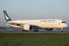 Cathay Pacific A350 London Gatwick (Chris Goodwin - AirTeamImages) Tags: cathay pacific airbus a350 a359 a350900 blrf avgeek london gatwick lgw egkk 26l landing hongkong hkg airport vhhh